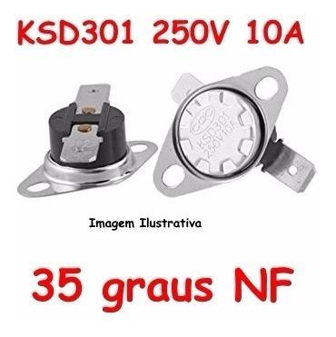 Termostato Ksd301 35 Graus Normal Fechado - 250 V 10 A Nf