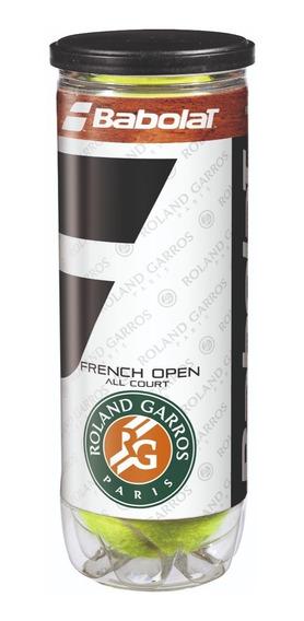 Pelota Tenis Babolat French Open Roland Garros All Court X3