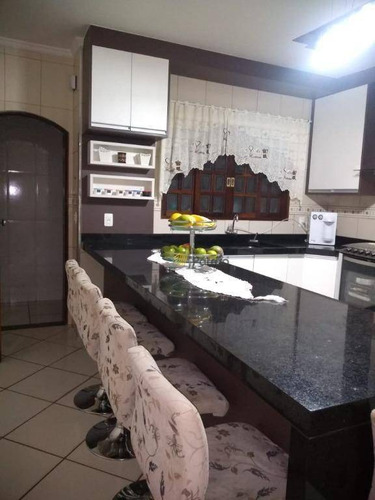 Sobrado Com 3 Dormitórios À Venda, 189 M² Por R$ 450.000,00 - Jardim Santo André - Santo André/sp - So0892