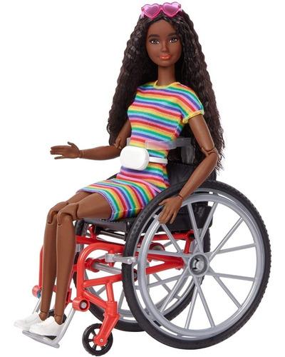 Barbie Fashionistas 166 Cadeirante Made To Move Negra 2021