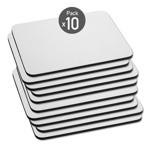 Imagen 1 de 7 de Mouse Pad Rectangular Sublimable Pack X10 Disershop
