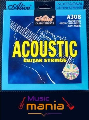 Cuerdas De Guitarra Acústica Marca Alice Profesionales