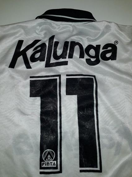 Camiseta Do Corinthians Anos 1990 Kalunga Manga Longa - L2