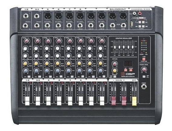 Mesa Amplificada Soundpro Mx100usb 10 Canais 16 Efeitos Mp3