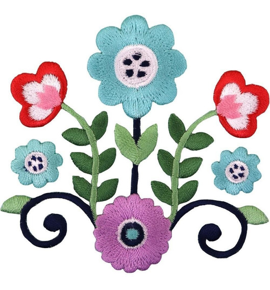 Parche Bordado P/la Ropa Boho Flower/vines Simplicity