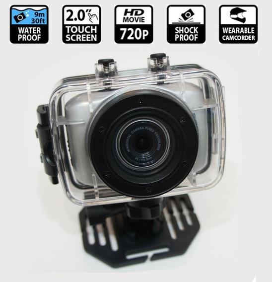 Câmera Digital Sports Action Camcorder 720p Hd Nova Nfe