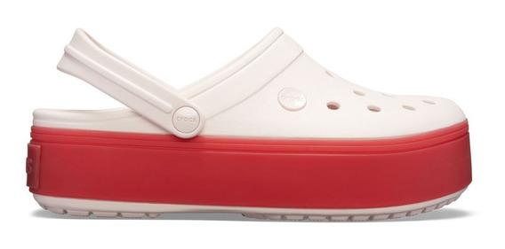 Crocs Crocband Plataforma Originales Rosa Brely Pink/pepper 5434