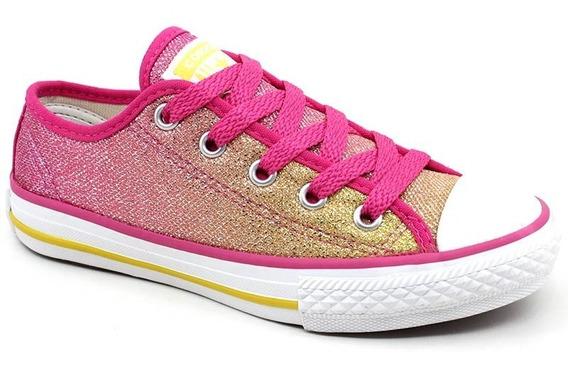 Tênis Infantil Converse All Star Border Ck0748 Pink Loja Pixolé