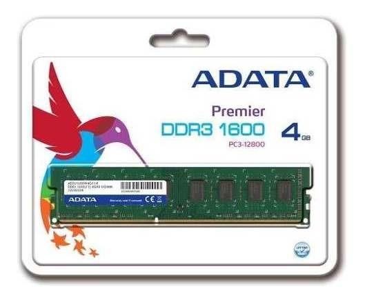 Memoria Ram 4gb Adata Ddr3 Pc 1600 Mhz Udimm Envio