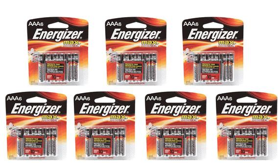 7 Cartelas De Pilha Alcalina Aaa 1,5v Max Energizer