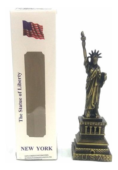 Miniatura Estátua Da Liberdade 16cm Metal Decoração Enfeite