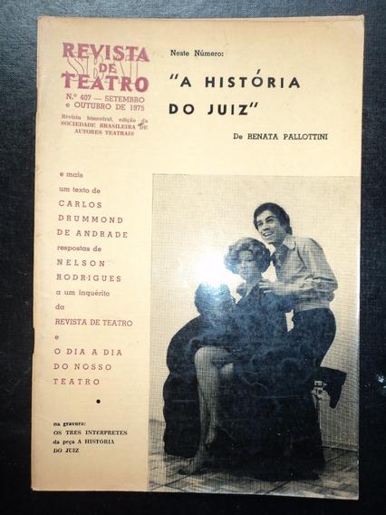 Lote C/ 04 Revistas De Teatro-sbat/ Veja Relação