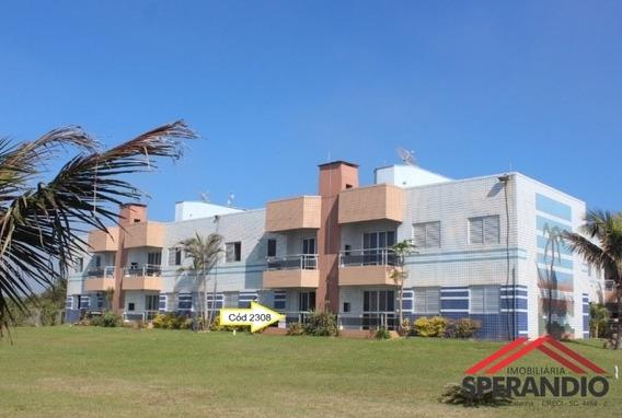 Apartamento Térreo, Frente Mar! Com 1 Suíte + 2 Quartos - 2308