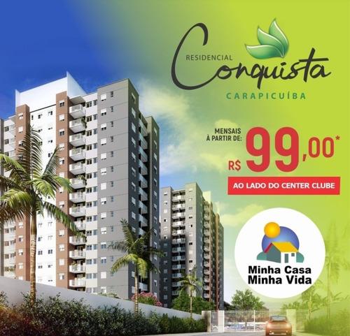 Apartamentos 2 Quartos Em Vila Silva Ribeira - Carapicuíba