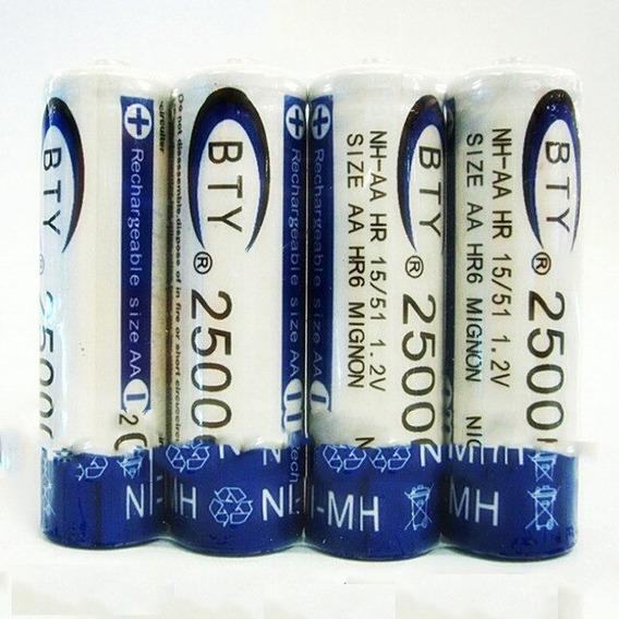 Bateria Recarregável Aa - Bty 2500 Mah- 04 Unidades