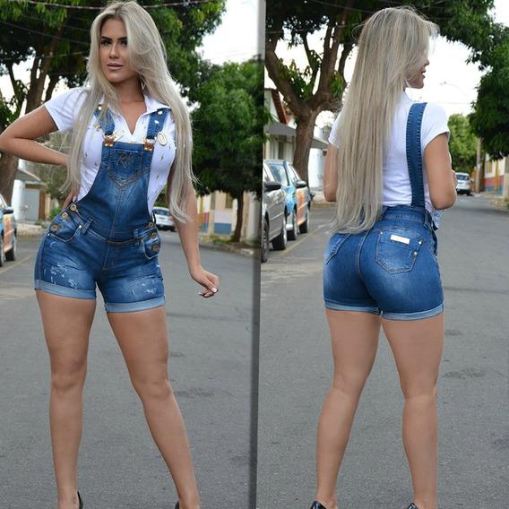 Jardineira Shorts Jeans Rhero Original 55552