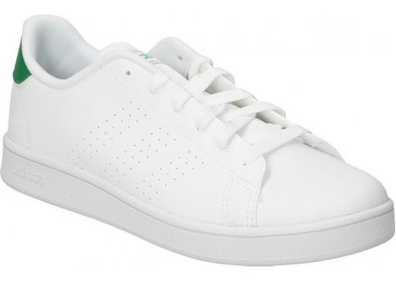 Tenis adidas Advantage Blanco/verde 100% Original Juvenil Escolar Comodos Casual/deportivo