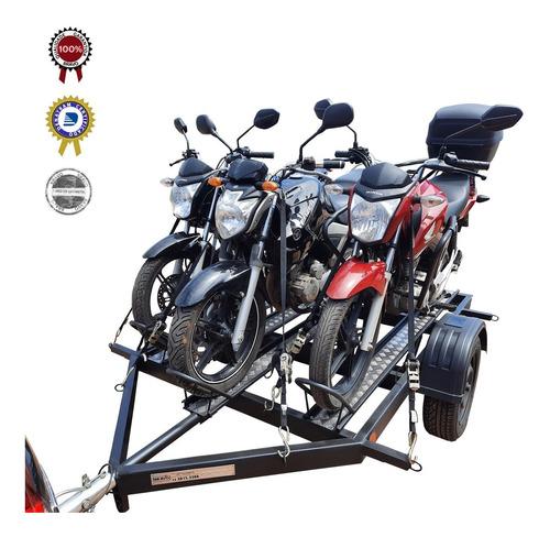 Carreta Para Transp/ 3 Motos - Bravo Carretas