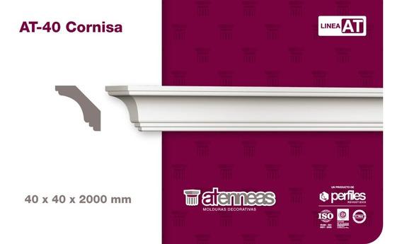 Moldura Cornisa Interior Atennea Telgopor At40 Pack X 2mt