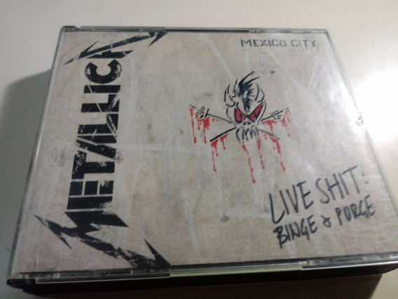 Metallica - Live Shit Mexico City - Cd Triple Fatbox , Usa
