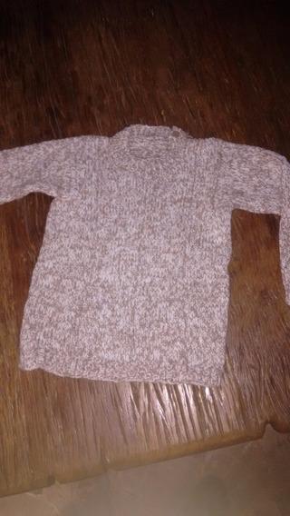 Sweater Tejido A Mano Niño Talle 4 Divino!!!! Suavecito