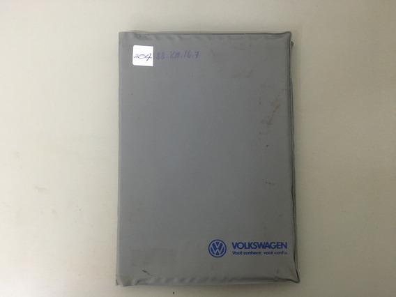 Capa Do Manual Concessionária Vw - Década De 90