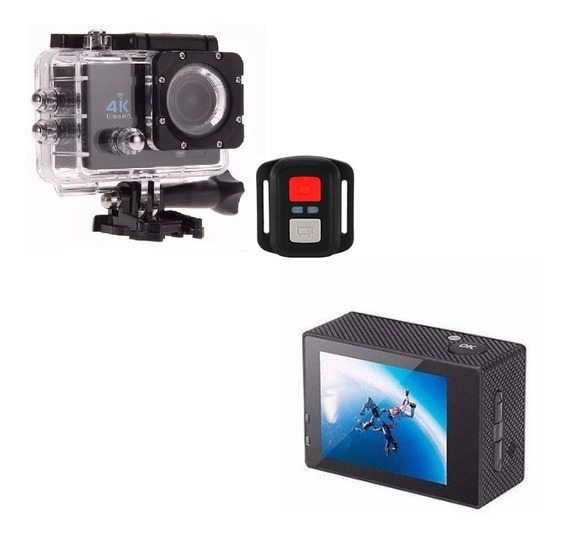 Mini Câmera Sport 4k Prova D´água Action + Controle Remoto