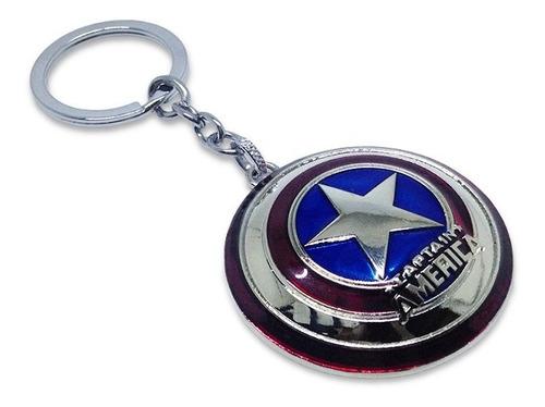 Llavero Metálico Escudo Capitán América Marvel Cómics
