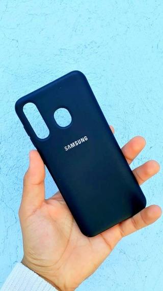 Funda Premium Silicone Cover Negro Aterciopelada Samsung A20