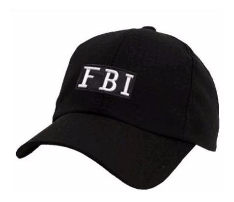 Boné Preto - Bordado Fbi
