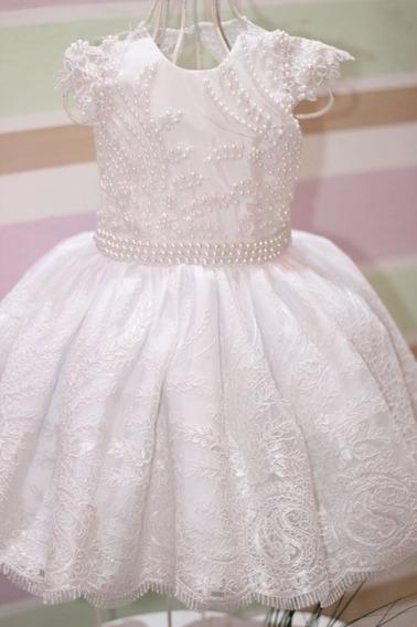 Vestido Infantil De Festas Batizado E Daminha
