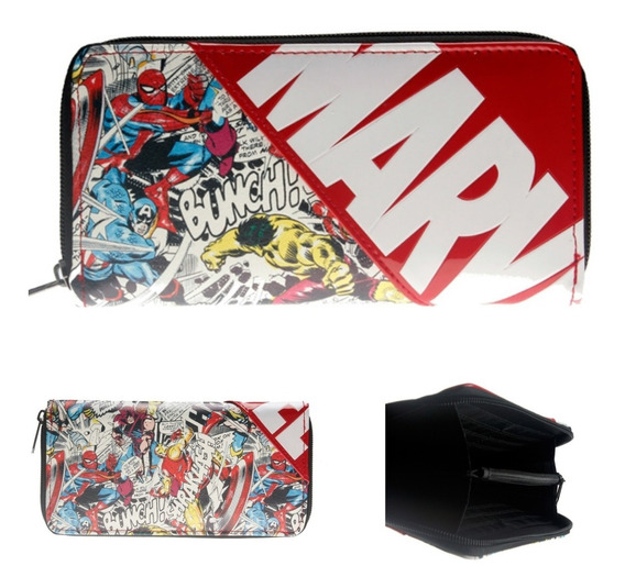Cartera Marvel Original Avengers Endgame Comics Monedero