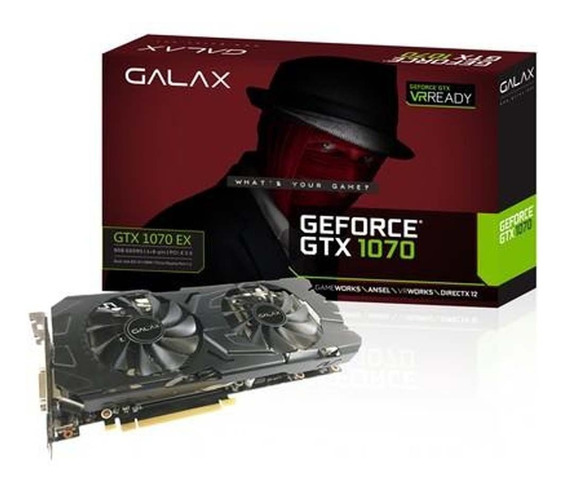 Placa De Video Galax Geforce Gtx 1070 Ex 8gb | Vitrine