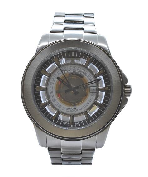 Relógio De Pulso Technos Essence Masculino Prata F06111ab/1w