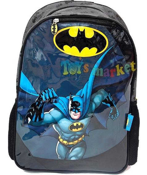 Mochila De Batman 17 Con Capa 45 Cm Licencia Original