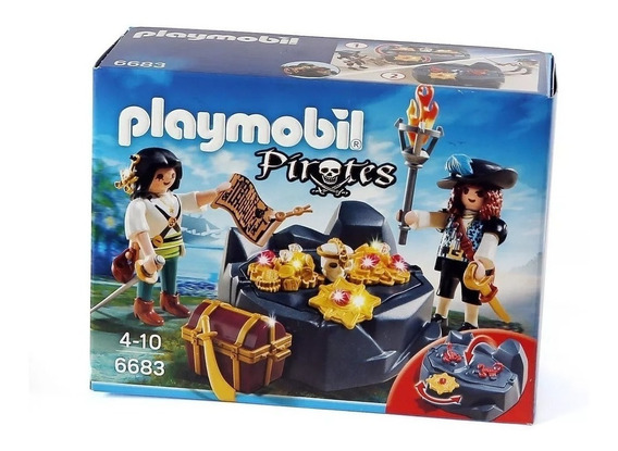 Pirata Con Tesoros Playmobil