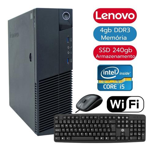 Imagem 1 de 6 de Pc Computador Desktop Intel I5 4º Geração 4gb Ssd240 + Wi-fi
