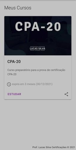 Imagem 1 de 1 de Cpa-20 Lucas Silva Acesso Até 30/12