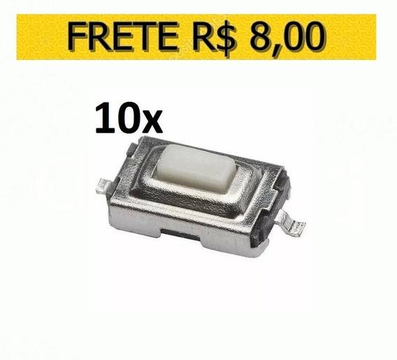 Chave De Toque Smd 2 Term. 3x6x2,5mm, Lote 10 Unidades