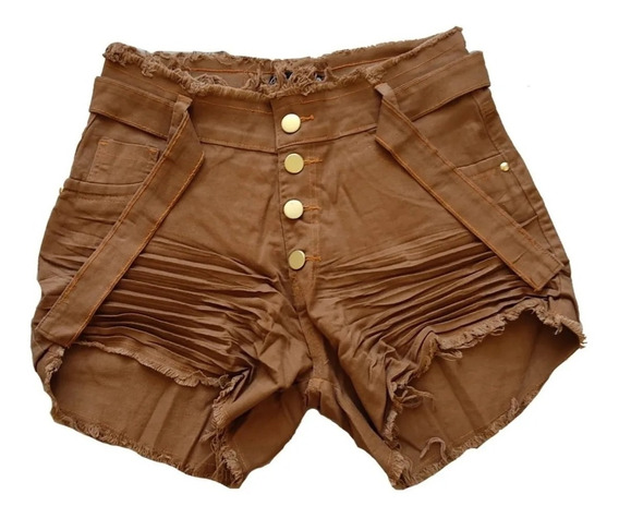Roupas Femininas Shorts Jeans Plus Size Com Lycra 34 / 54