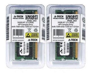 16gb Kit 2 X Hp Compaq Envidia 7300 Dv6t Dv6z-7200 Dv7-7212n