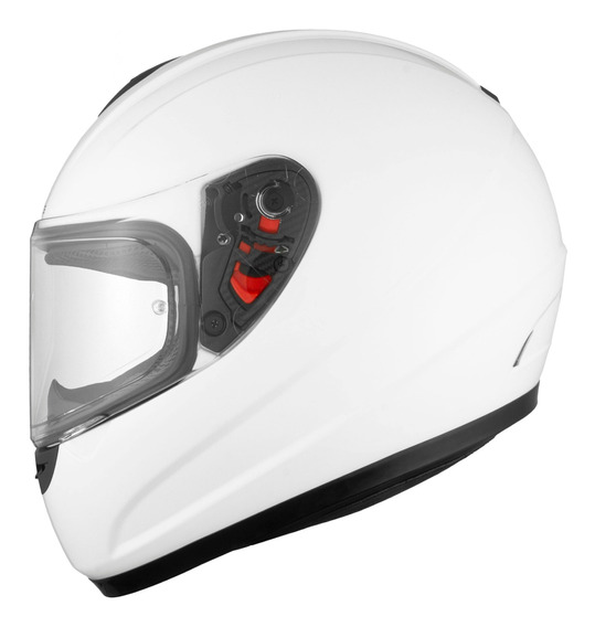 Casco Moto Mt Thunder Solid Blanco Brillo Integral