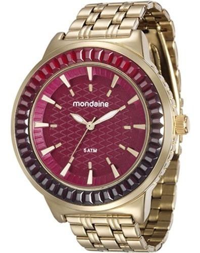 Relógio Mondaine Feminino Dourado 76624lpmvde2