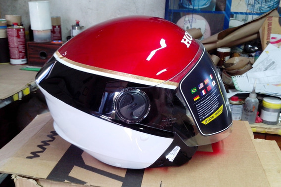 Capacete (100% Pintura) Honda Cbx 750f Hollywood Sete Galo