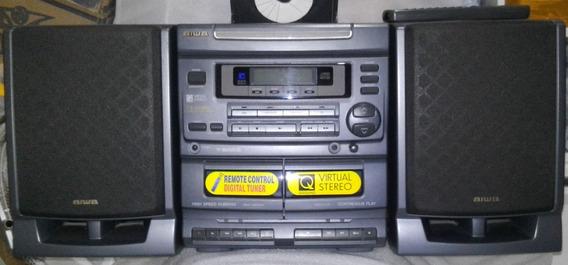Som Aiwa Caixas Som Cd Rádio Fita Controle Ca-dw480