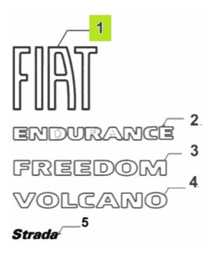 Imagen 1 de 1 de Sigla Fiat Tras. -original- Fiat Strada Freedom 1.4cc 2020-