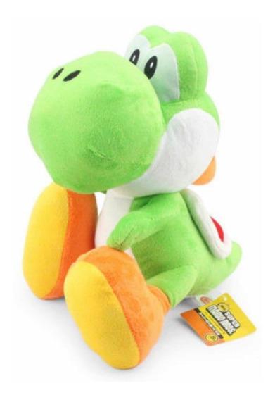 Boneco Pelúcia Yoshi 15cm Super Mario Bross Nintendo