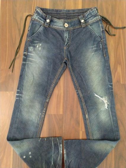 Calça Jeans Feminina Zoomp 40 Azul Skinny Original Oferta