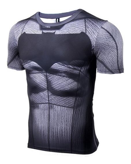 Camisa Compressão Batman Manga Curta 3d Pronta Entrega