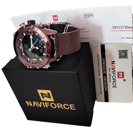 Relógio Naviforce 9153 Resistente Luz Led Alarme